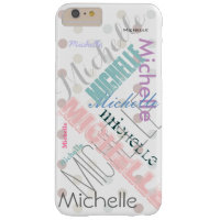 Pastel Name Polka Dot Barely There iPhone 6 Plus Case
