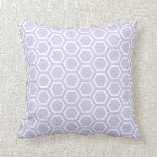 Pastel Purple Honeycomb Pattern Throw Pillow