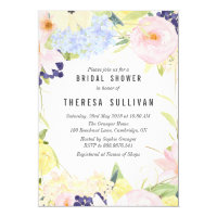 Pastel Spring Flowers Bridal Shower Invitation