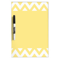Pastel Yellow Chevron Dry-Erase Whiteboard