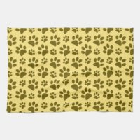 Dog Paw Kitchen Towels, Dog Paw Hand Towels