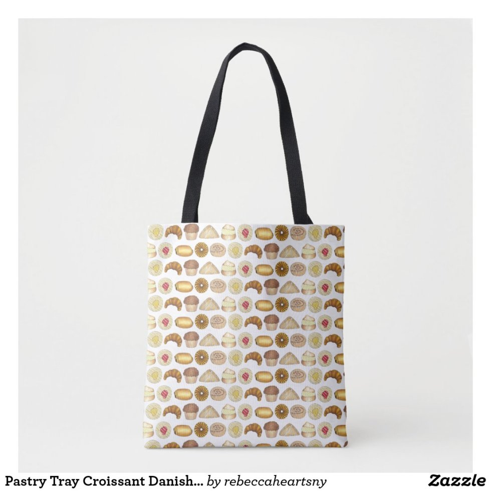 Pastry Tray Croissant Danish Muffin Baked Goods Tote Bag