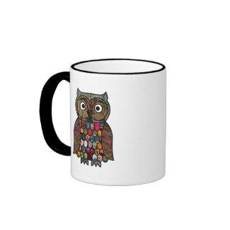 Patchwork Owl mug