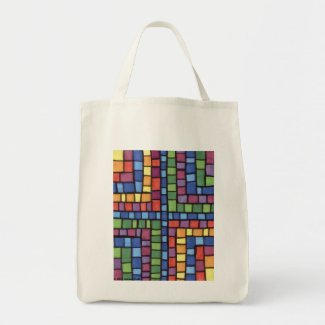 """Pathways of Color"" Organic Grocery Tote Bag"