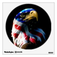 Patriotic American Eagle Wall Decal | Zazzle