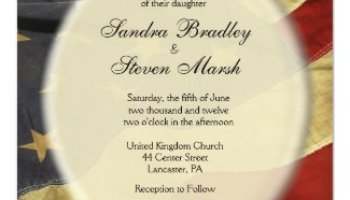 patriotic american flag wedding invitations zazzle - Patriotic Wedding Invitations