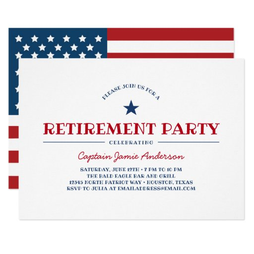 Patriotic Retirement Party Invitation