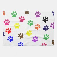 Paw print cat pet colorful fun pawprints, tracks kitchen ...