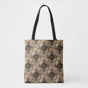 Paw Print Design Tote Bag