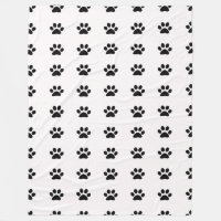 Paw Prints Fleece Blanket