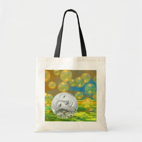 Peace – Golden and Emerald Serenity Tote Bag