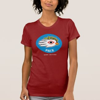 Peace in French t-shirt
