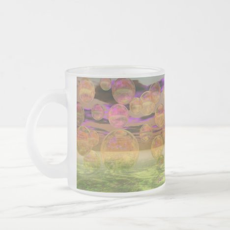 Peace in the Storm – Violet and Amber Tranquility Frosted Glass Coffee Mug