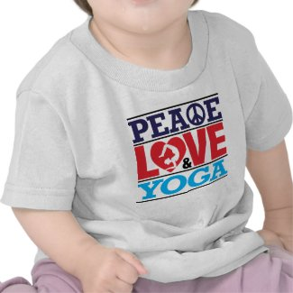 Peace, Love and Yoga T-shirt