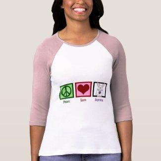 Peace Love Bunnies Tee Shirt