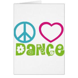 Peace Love Dance Card