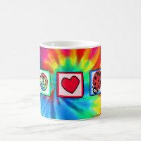 Peace, Love, Ladybugs Coffee Mug
