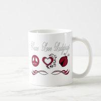 Peace Love Ladybugs Coffee Mug
