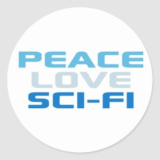 Peace Love Sci-Fi sticker