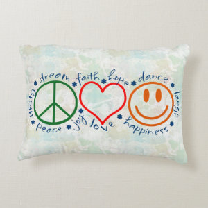 Peace Love Smile Accent Pillow