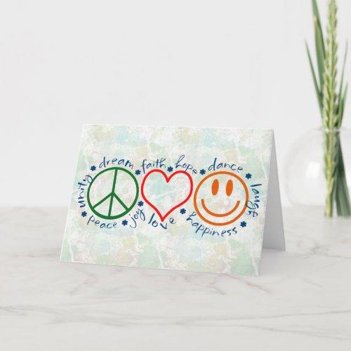 Peace Love Smile Card