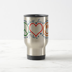 Peace Love Smile Travel Mug