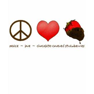 Peace Love Strawberries shirt