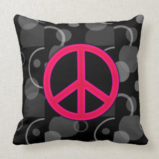 Peace Sign Geometric Circles Pillows