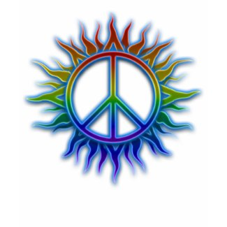 Peace Sign Sun zazzle_shirt