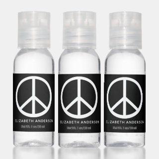 Peace Sign Symbol - Add Name Hand Sanitizer