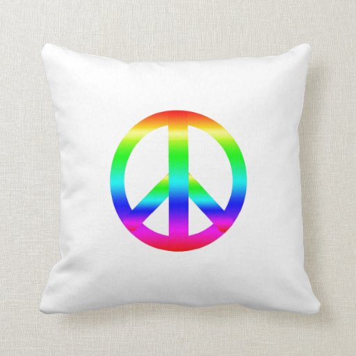 Peace Sign Throw Pillow  Zazzle