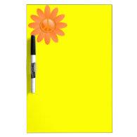 Peace Symbol Flower - Cantelope Orange Dry-Erase Whiteboards