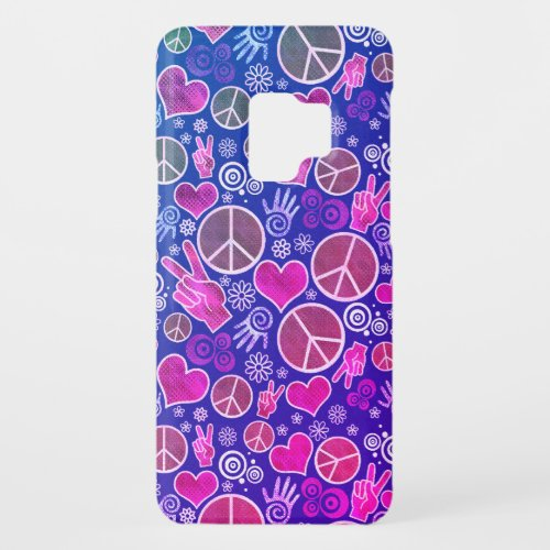 Peace Symbol Hipster Pacifism Sign Design Case-Mate Samsung Galaxy S9 Case