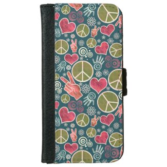 Peace Symbol Hipster Pacifism Sign Design Wallet Phone Case For iPhone 6/6s