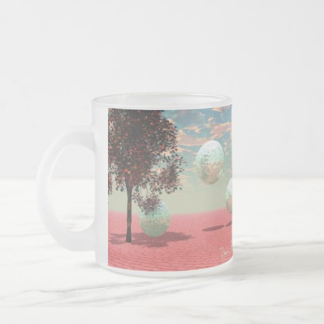 Peach Fantasy – Teal and Apricot Retreat Frosted Glass Coffee Mug