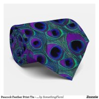 peacock_feather_print_tie_purple_green_teal_aqua ...