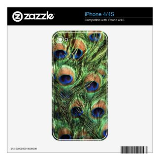 peacock feathers decals for iphone 4