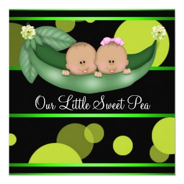 Peas In A Pod African American Gender Reveal Invitation