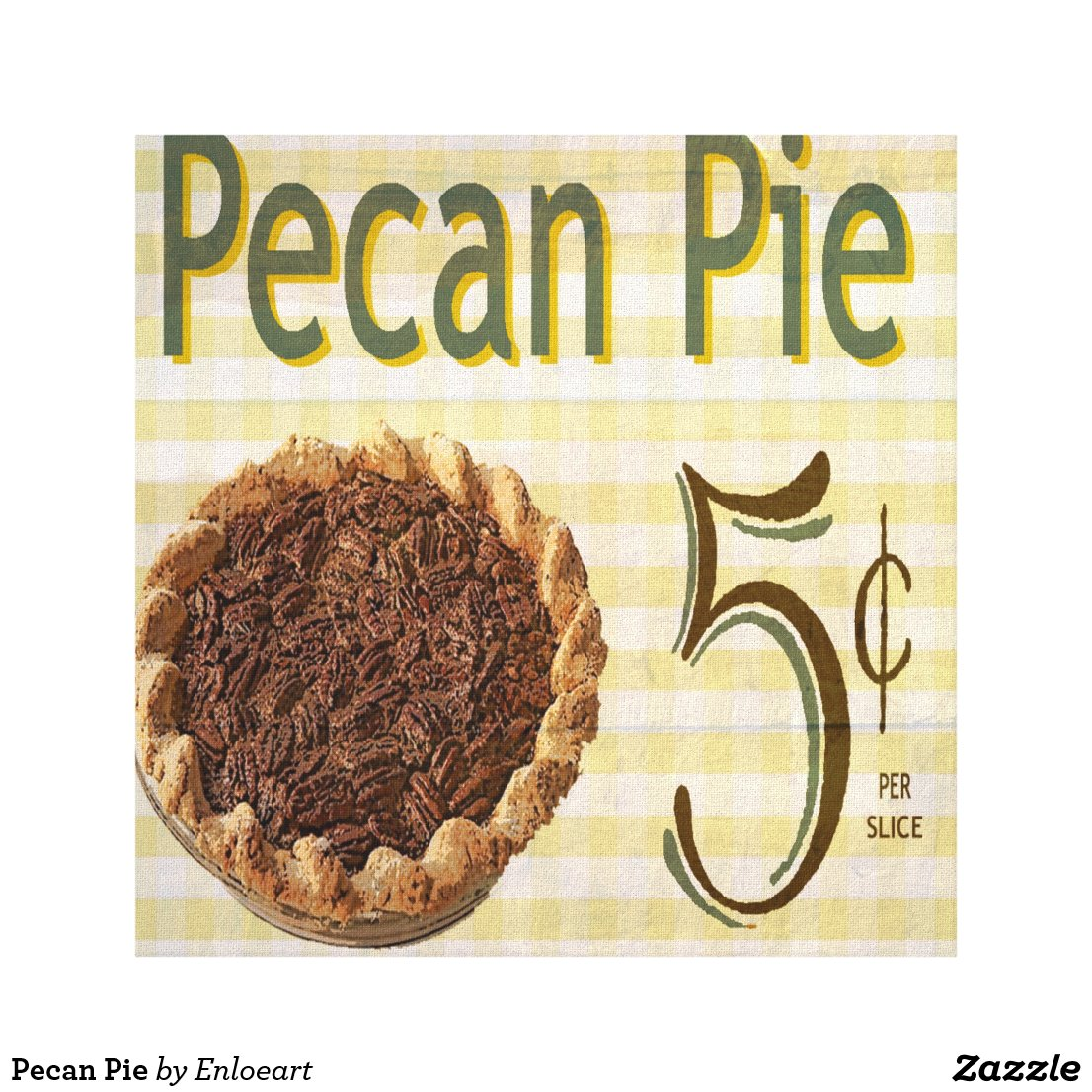 Pecan Pie Canvas Print