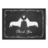 Pembroke Welsh Corgis Wedding Thank You Card
