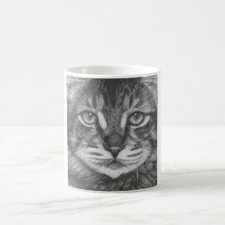 Pencil Cat mug drawing