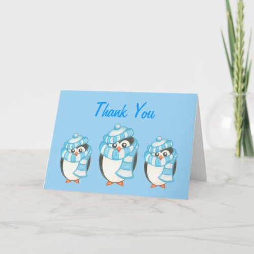Penguin Thank You Card