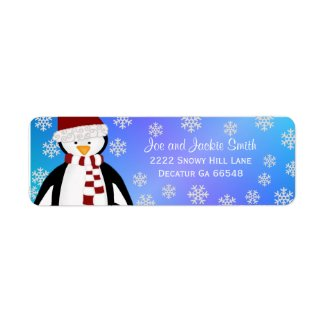 Penguin: Winter Address Labels