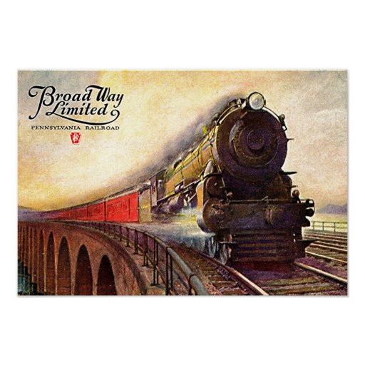 Pennsylvania Railroad Broadway Limited Poster Zazzle