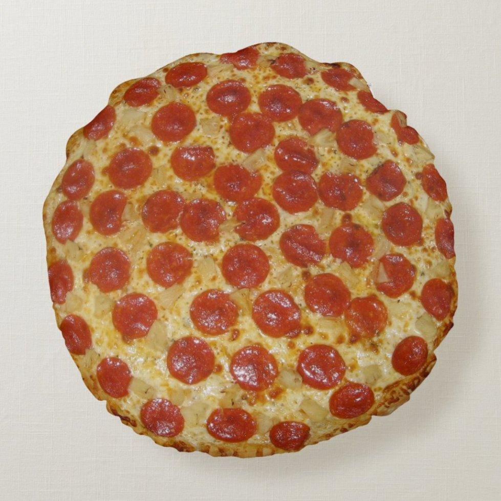 Pepperoni Pizza Round Pillow