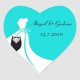 Perfect Couple Invite Seals Heart Sticker