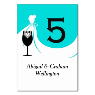 Perfect Pair Wedding Table Number Card