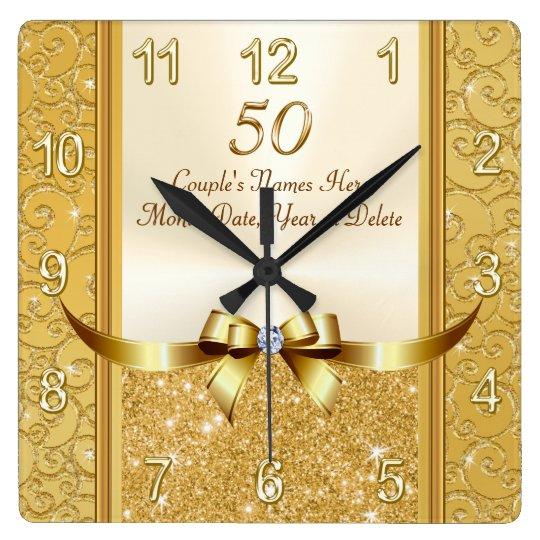 personalised 50th wedding anniversary