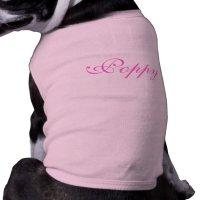 Personalised name pet dog clothing t-shirt, top | Zazzle