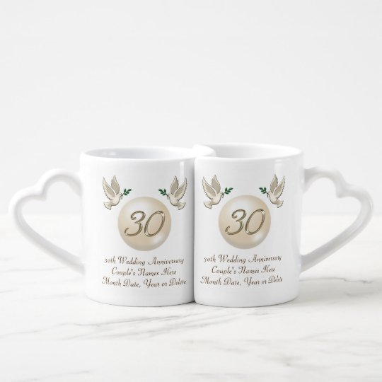 Personalized 30th Anniversary Gifts For Friends Coffee Mug